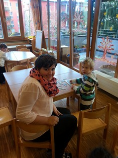 Vanessa im Kindergarten
